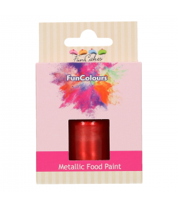 FunCakes FunColours Metallic Food Paint Red 30ml
