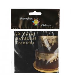 Sugarflair Lámina de Oro de 24 Quilates