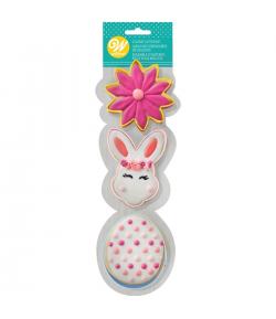 Wilton Set Cortadores Galletas Flower/BunnyHead/Egg Set/3
