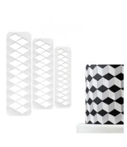 Set 3 Cortadores Geometricos Rombos