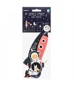 PartyDeco Toppers para Tartas Espacio Set/7