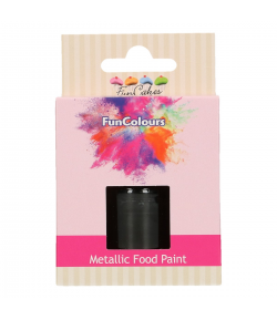 FunCakes FunColours Metallic Food Paint Black 30ml