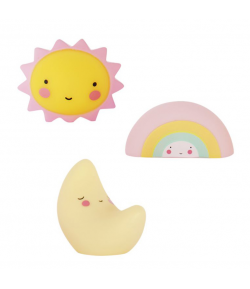 ALLC Mini Topper para Tarta Luna-Arcoiris-Sol Set/3