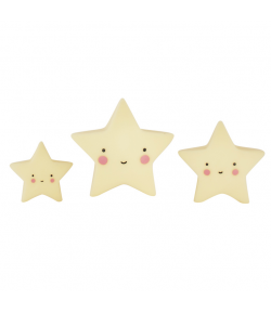ALLC Mini Topper para Tarta Estrellas Yellow Set/3