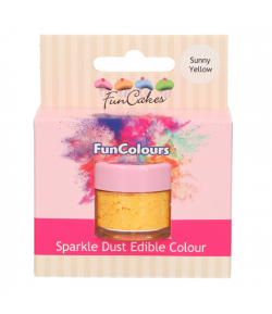 FunCakes Purpurina Comestible, Sunny Yellow 3,5gr.