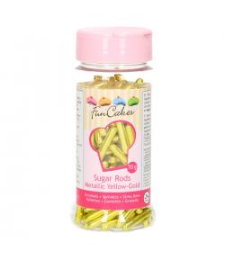FunCakes Palitos de Azúcar XL -Amarillo Metalizado- 70g