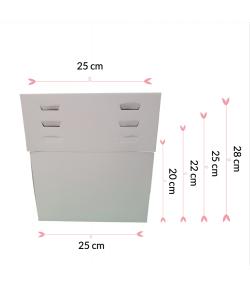 Pastkolor Caja para Tartas, con 4 Alturas Ajustable 25X25cm.