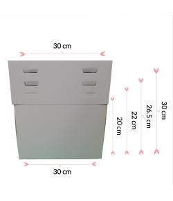 """Caja Para Tarta 4 Alturas 30 X 30 X 20/22/26.5/30 (12"""")"""