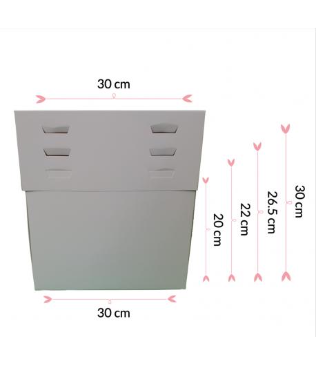 """Caja Para Tarta 4 Alturas 30 X 30 X 20/22/25/28 (10"""")"""