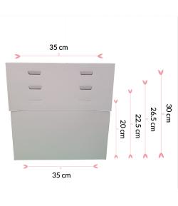 """Caja Para Tarta 4 Alturas 35 X 35 X 20/22.5/26.5/30 (14"""")"""