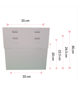 Pastkolor Caja para Tartas, con 4 Alturas Ajustable 35X35cm.