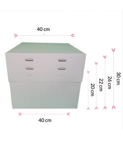 """Caja Para Tarta 4 Alturas 40 X 40 X 20/22/26/30 (16"""")"""