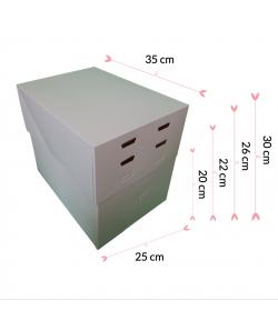 "Caja Para Tarta 4 Alturas 35 X 25 X 20/22/26/30 (14"" X 10"")"