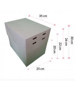 Pastkolor Caja para Tartas, con 4 Alturas Ajustable 35X25cm.