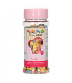 FunCakes Mezcla de Decoraciones de Azúcar de Confetti, 60gr