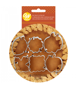 Wilton Cortadores Mini para Decorar Tartas tipo Pie Set/6