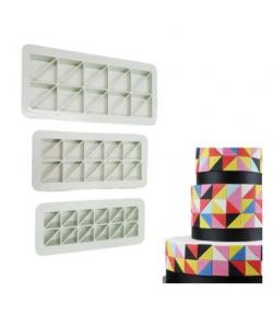 Paskolor Cortadores Geométricos, Triángulos Rectángulos set/3
