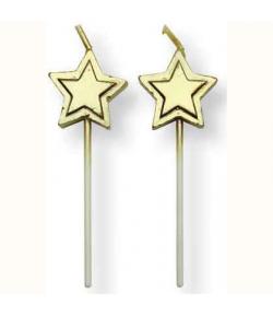 PME Velas Estrellas Oro 8u.