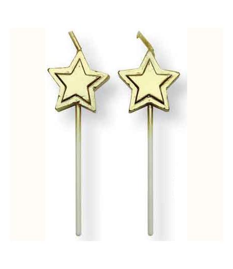 PME Velas Estrellas Oro Set/8