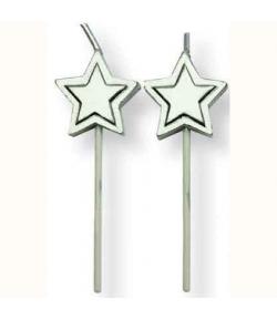 PME Velas Estrellas Plata 8u.