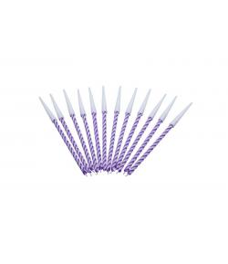 Velas espiral color lila , 12u