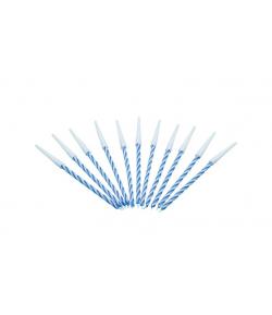 Velas espiral color azul, 12u