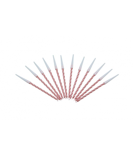 Pack 12 velas espiral color rojo