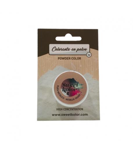 Colorante En Polvo Concentrado Pastkolor - Plata Metálico 3 G