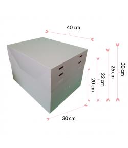 Pastkolor Caja para Tartas, con 4 Alturas Ajustable 40X30cm.