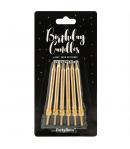 PartyDeco Velas de Cumpleaños Oro 6cm 6u