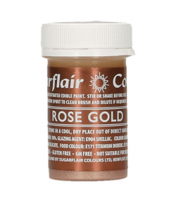 Sugarflair Edible Paint Rose Gold 20g