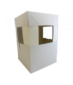 Pastkolor Caja para Tartas, Blanca 25cm + Extensiones 30,5cm