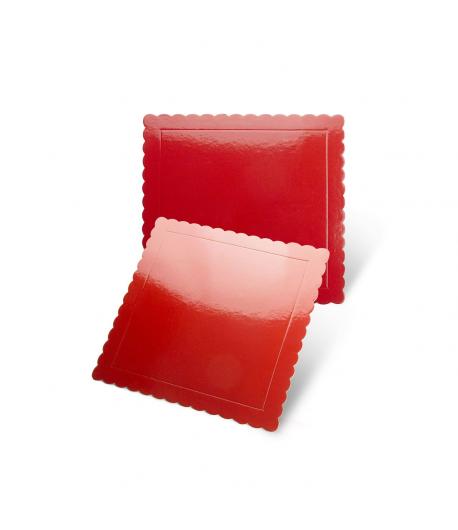 Base Cuadrada Roja - 25 cm / 3 mm Grosor