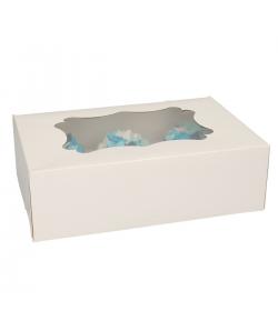 FunCakes Caja para 6 Cupcakes - Blanco-3u.