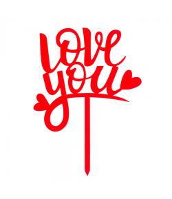 Topper Para Tarta Love You