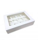 Caja Para 12 Cupcakes Blanca Con Ventana