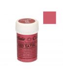 Colorante En Pasta Satinado Sugarflair - Red Satin / Rojo 25g