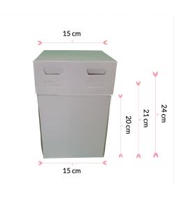 Pastkolor Caja para Tartas, con 4 Alturas Ajustable 15x15cm.