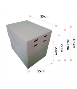 Caja Para Tarta 4 Alturas Ajustables - 30 X 25 Cm