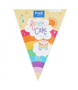 Kit Colorantes Arco Iris de Alimentarios PME Rainbow Cake