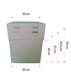 Pastkolor Caja para Tartas, con 4 Alturas Ajustable 20x20cm.