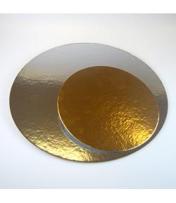 Base redonda oro/plata 1mm. 20cm. - und.