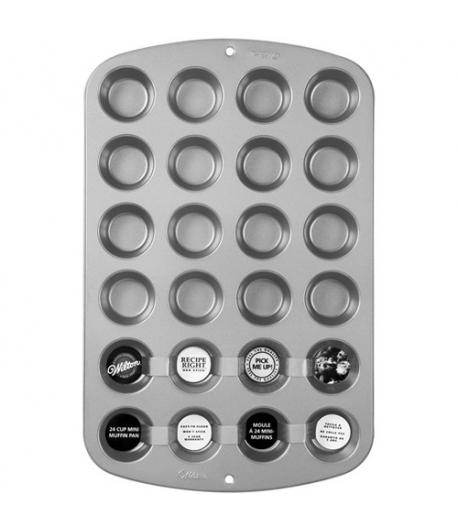 Wilton Recipe Right® Molde Mini Muffins, 24 cavidades