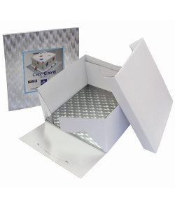 PME Caja Tarta y Bandeja Cuadrada 20cm