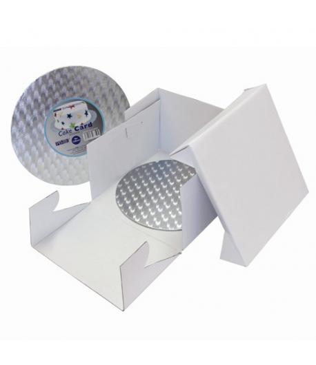 PME Caja Tarta y Bandeja Redonda 35 x 35 x 15cm