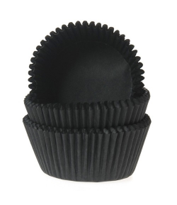 HoM Mini Baking cups Black - pk/60