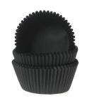 HoM Mini Baking cups Black - pk/60